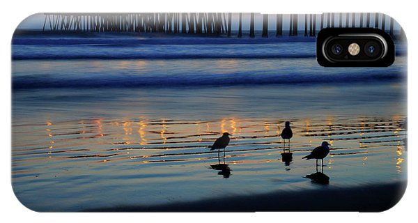 IPhone Case featuring the photograph Sunset Pier by Pierre Leclerc Photography