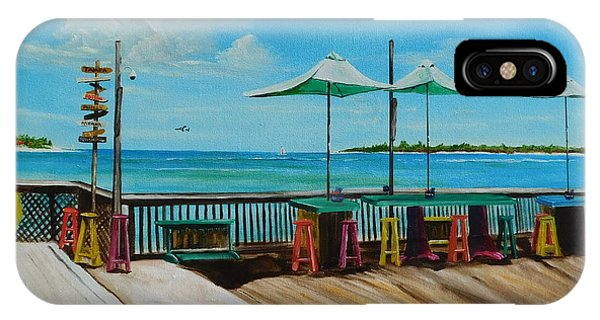 Tiki Bar iPhone Case - Sunset Pier Tiki Bar - Key West Florida by Lloyd Dobson