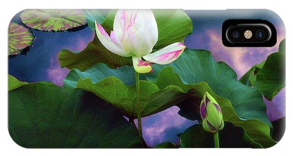 Sunset Pond Lotus IPhone Case