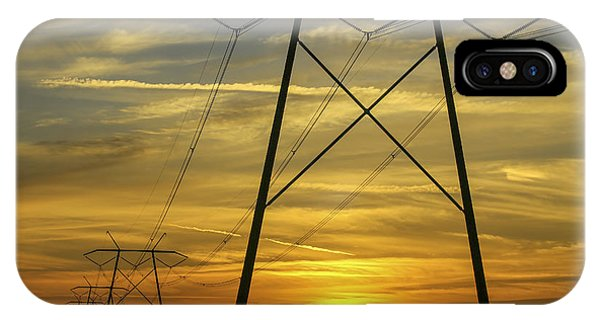 Sunset Power Lines IPhone Case