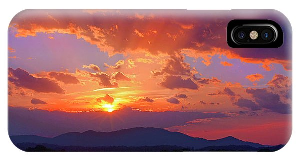 Sunset Rays At Smith Mountain Lake IPhone Case