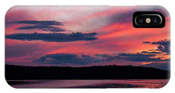Sunset Red Lake IPhone Case