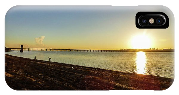 Sunset Reflecting On The Uruguay River IPhone Case