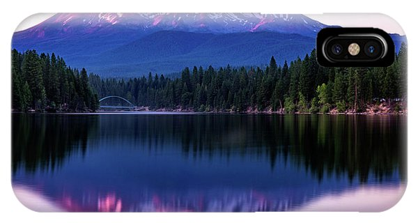 Sunset Reflection On Lake Siskiyou Of Mount Shasta IPhone Case