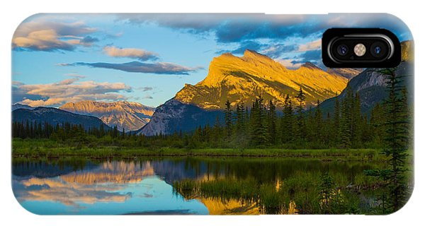 Sunset Reflections In Banff IPhone Case