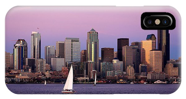 Sunset Sail In Puget Sound IPhone Case