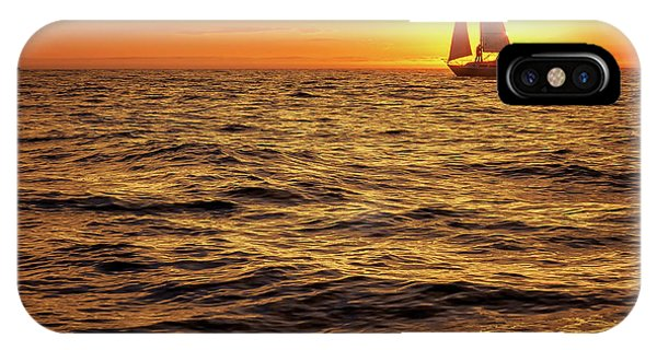 Sunset Sailing Phone Case by Steve Spiliotopoulos