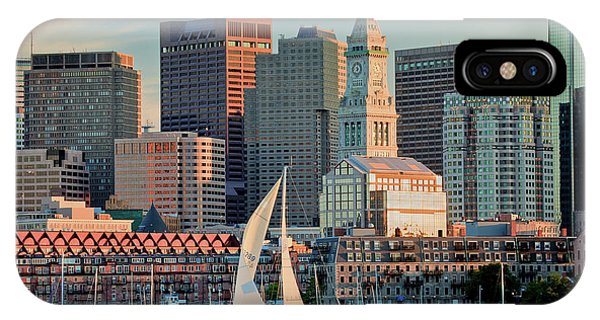 Sunset Sails On Boston Harbor IPhone Case