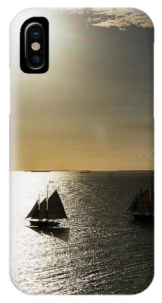 Sunset Schooners IPhone Case