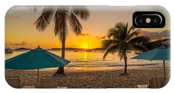 Sunset Secret Harbor IPhone Case