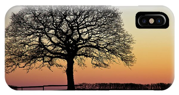 IPhone Case featuring the photograph Sunset Silhouette by Clare Bambers