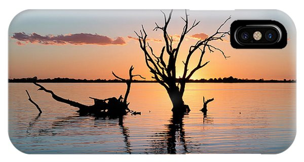 IPhone Case featuring the photograph Sunset Silhouette by Ray Warren