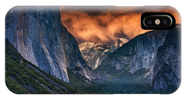 Sunset Skies Over Yosemite Valley IPhone Case