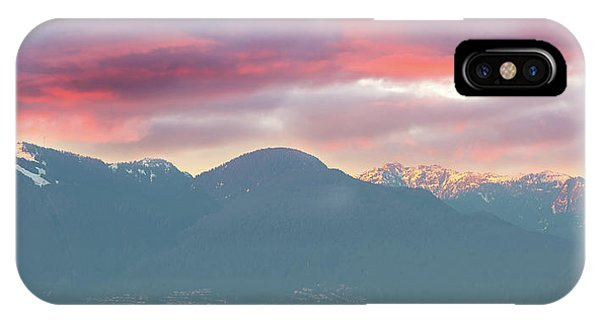 iPhone Case - Sunset Sky Over Port Of Vancouver Bc by David Gn