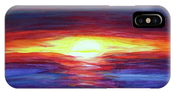 IPhone Case featuring the painting Sunset by Sonya Nancy Capling-Bacle