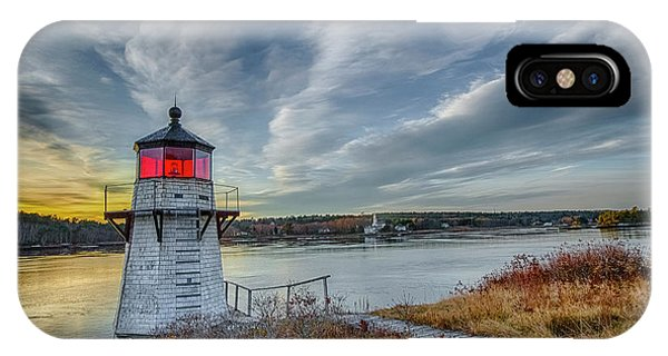 Sunset, Squirrel Point Lighthouse IPhone Case