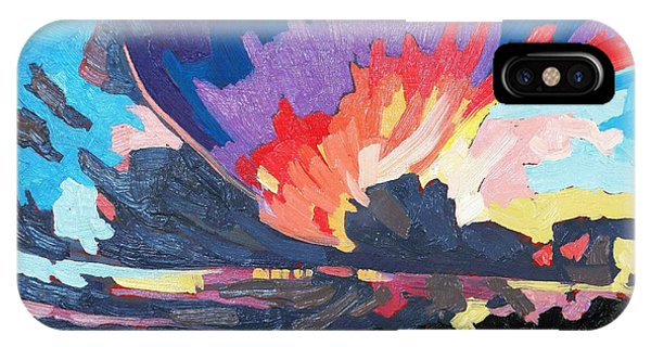 Damage iPhone Case - Sunset Supercell by Phil Chadwick