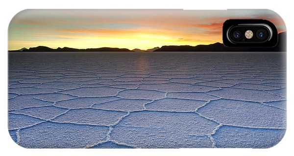 Lake Uyuni Sunset Texture IPhone Case