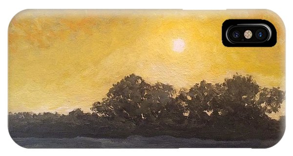 Sunset Through The Fog IPhone Case