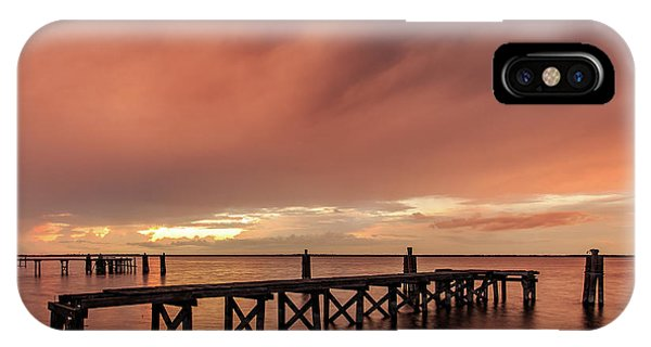 Sunset Thru Storm Clouds IPhone Case