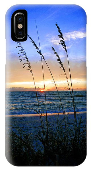 Sunset Thru The Sea Oats At Delnor Wiggins IPhone Case