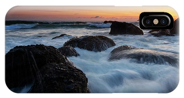 Tidal iPhone Case - Sunset Tidal Surge by Mike Dawson
