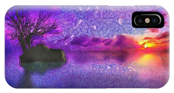 Sunset Tribute To Van Gogh IPhone Case