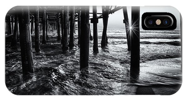Sunset Under The Santa Monica Pier IPhone Case