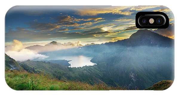 Sunset View From Mt Rinjani Crater IPhone Case