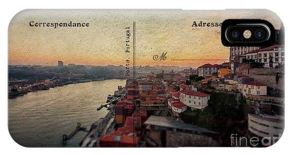 sunset view of the Douro river and old part of  Porto, Portugal IPhone Case