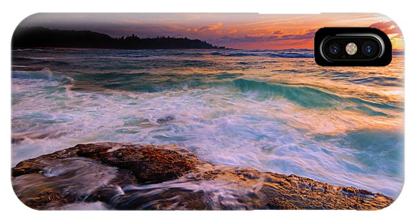 Drain iPhone Case - Sunset Wave Curl by Mike Dawson