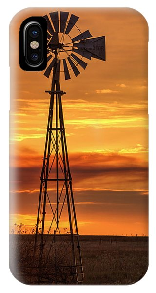 Sunset Windmill 01 IPhone Case