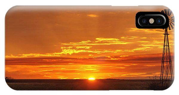 Sunset Windmill 02 IPhone Case