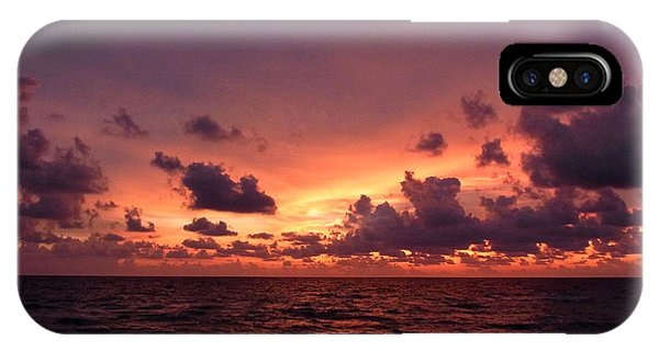 Sunset With Deep Purple Clouds IPhone Case