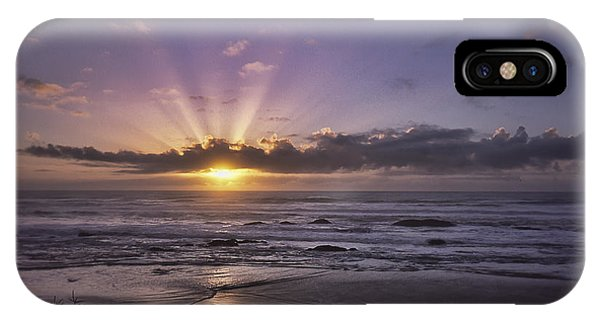 Sunset With God Beams IPhone Case