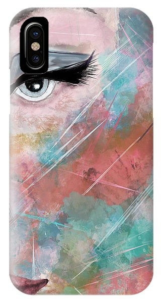 Sunset - Woman Abstract Art IPhone Case