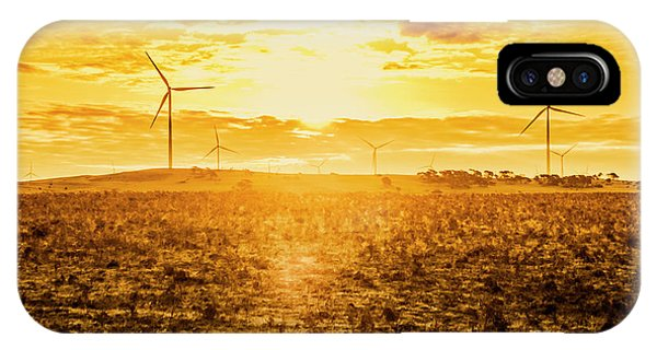 Conservation iPhone Case - Sunsets And Golden Turbines by Jorgo Photography - Wall Art Gallery