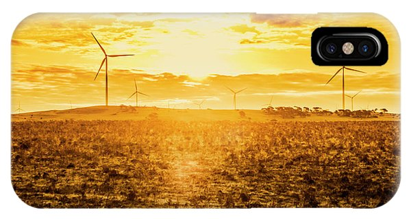 Energy iPhone Case - Sunsets And Golden Turbines by Jorgo Photography - Wall Art Gallery