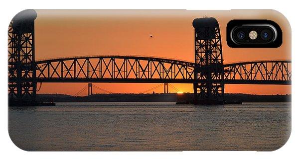 Sunset's Last Light Bridges Over Jamaica Bay IPhone Case