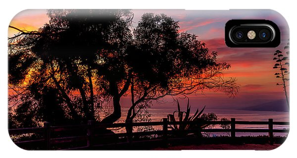 Sunset Silhouettes From Palisades Park IPhone Case