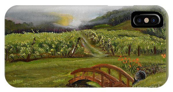 Sunshine Bridge At The Cartecay Vineyard - Ellijay Ga - Vintner's Choice IPhone Case