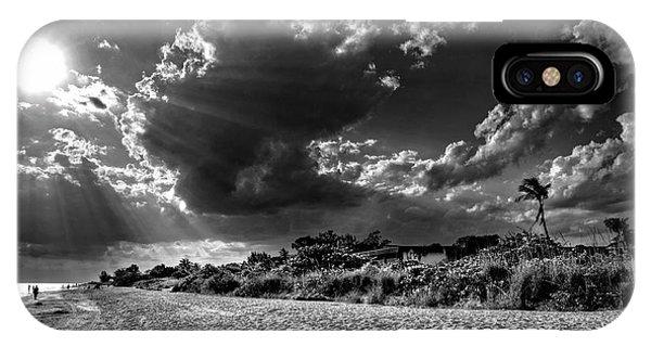 Sunshine On Sanibel Island In Black And White IPhone Case