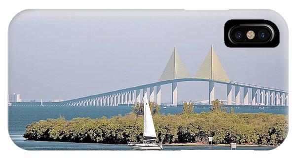 Sunshine Skyway Bridge IPhone Case