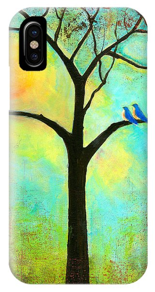 Bluebird iPhone Case - Sunshine Tree by Blenda Studio