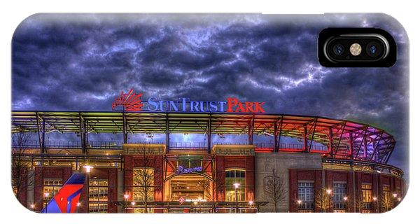 Suntrust Park Unfinished Atlanta Braves Baseball Art IPhone Case