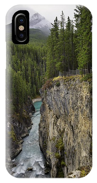 Sunwapta Falls Canyon IPhone Case