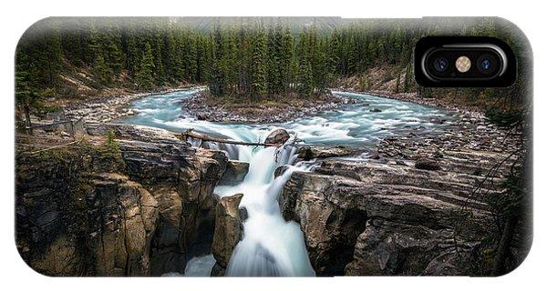 Sunwapta Falls In Jasper National Park IPhone Case