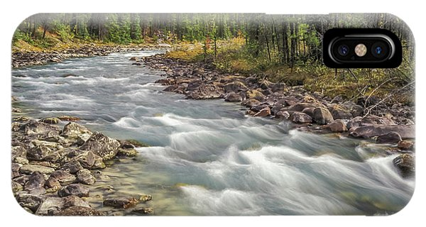 IPhone Case featuring the photograph Sunwapta River 2005 01 by Jim Dollar