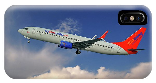 Airline iPhone Case - Sunwing Airlines Boeing 737-8bk by Smart Aviation