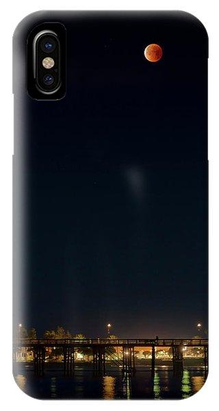 Super Blood Moon Over Ventura, California Pier IPhone Case